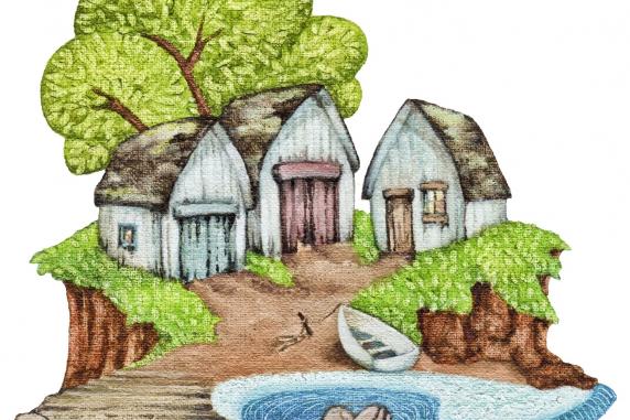 Peekabout ™ 'Island Fishing Sheds'
